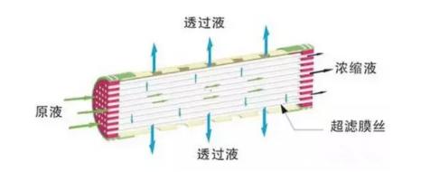 内压式超滤膜