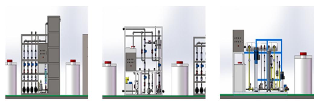 一体化水处理应急系统效果图